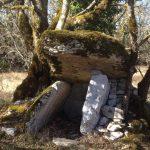 prise de vue d'un dolmen à Saint Chels dans le Lot